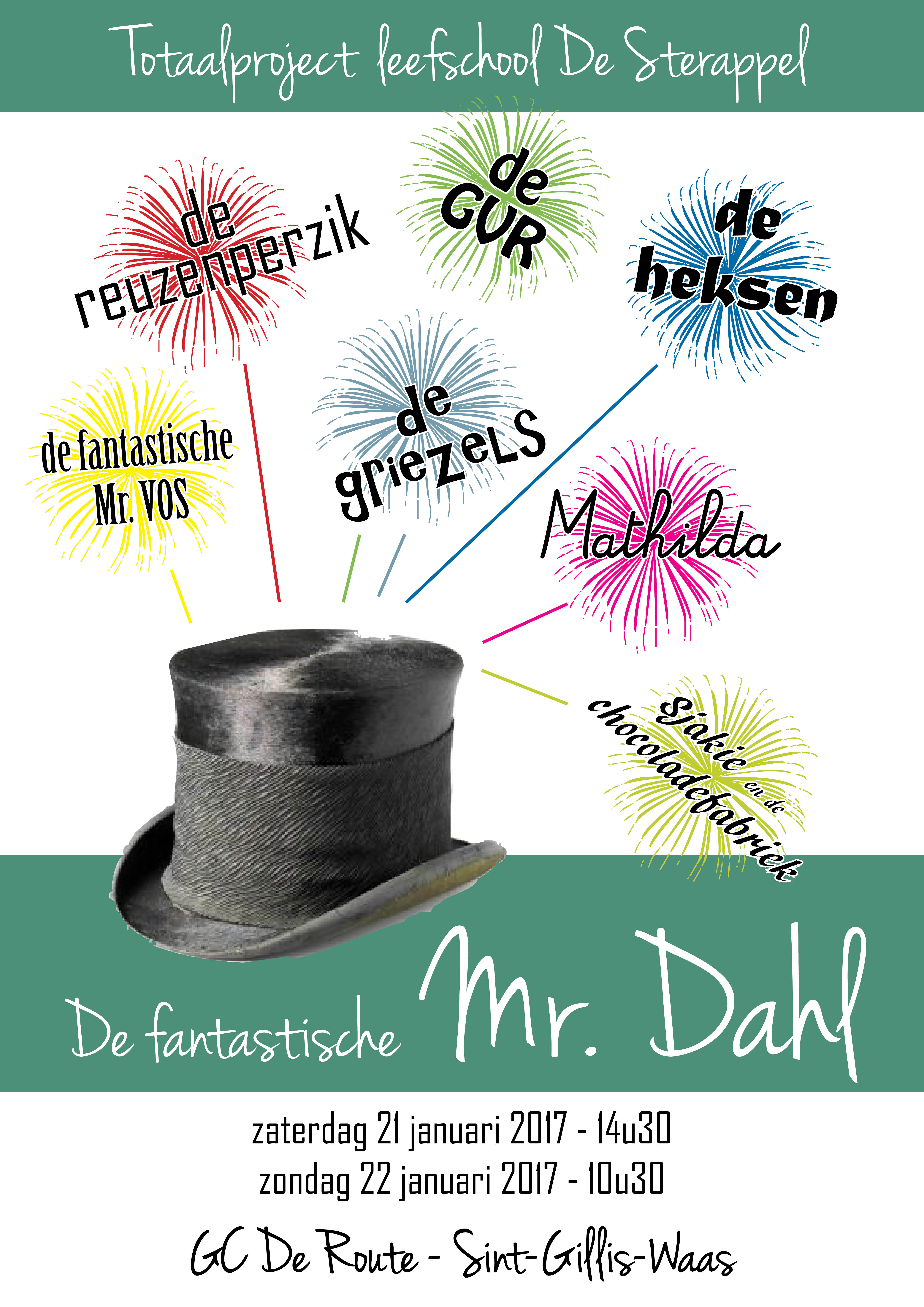 Totaalproject 2017 leefschool De Sterappel de fantastische mr. Dahl